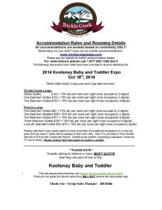 October 18 2014 - Kootenay Baby  Toddler Expo Accommodation Rates-page-001